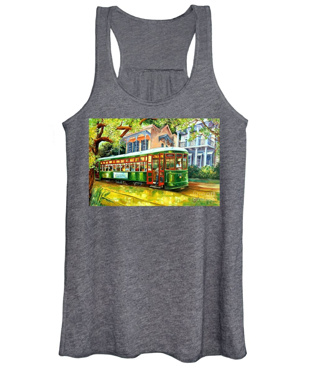 New Orleans Women's Tank Top featuring the painting Streetcar On St.charles Avenue by Diane Millsap