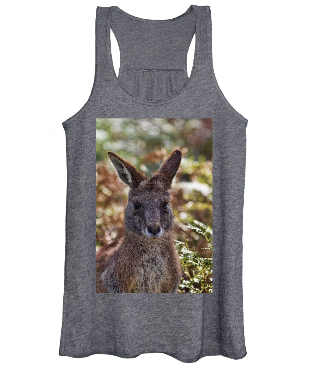Wallaby Women's Tank Top featuring the photograph The Look by Douglas Barnard