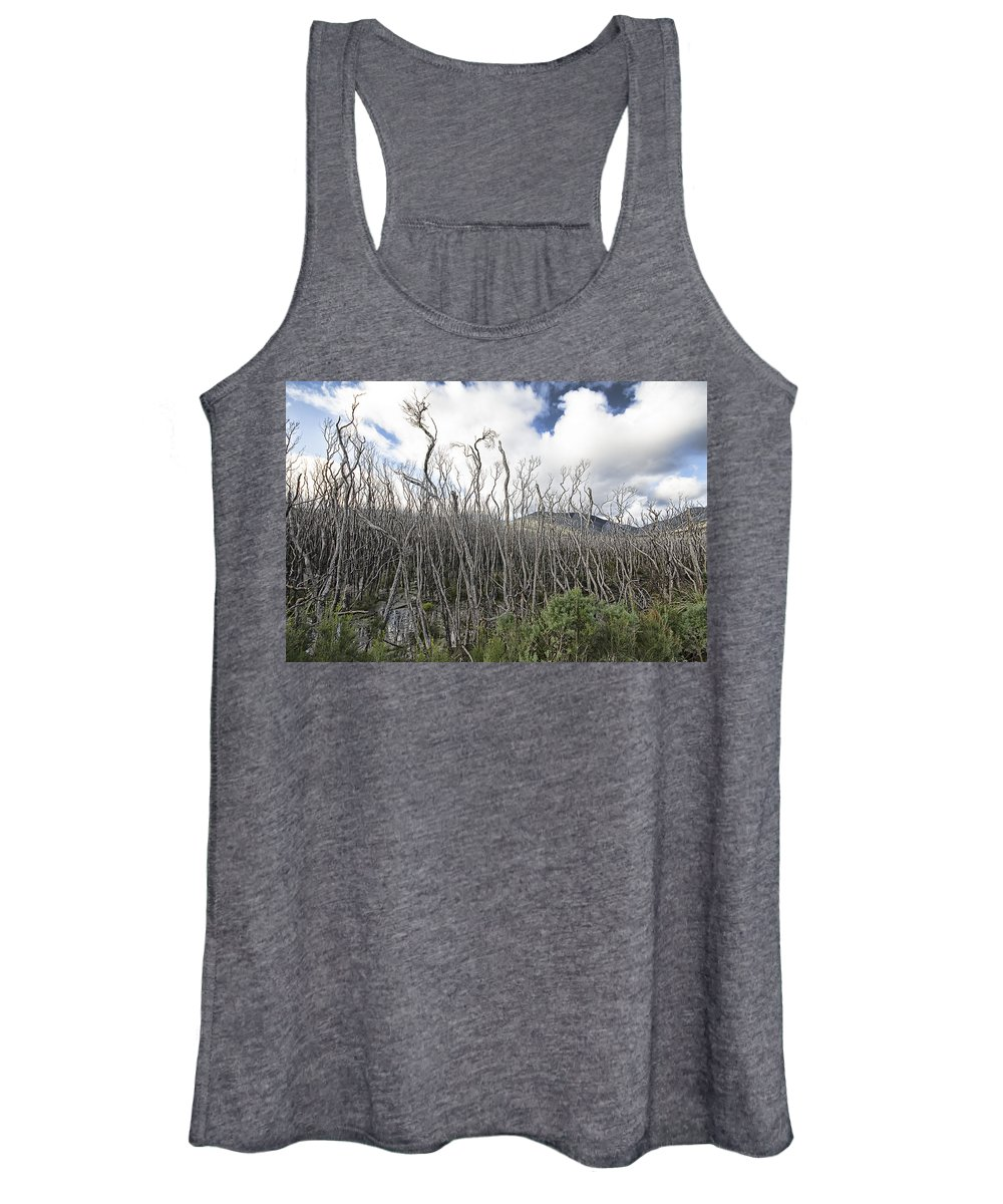 Tidal River Women's Tank Top featuring the photograph Tree Cemetery by Douglas Barnard