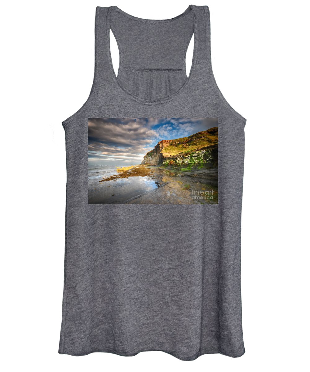 Saltwick Bay Women's Tank Top featuring the photograph Saltwick Bay by Smart Aviation