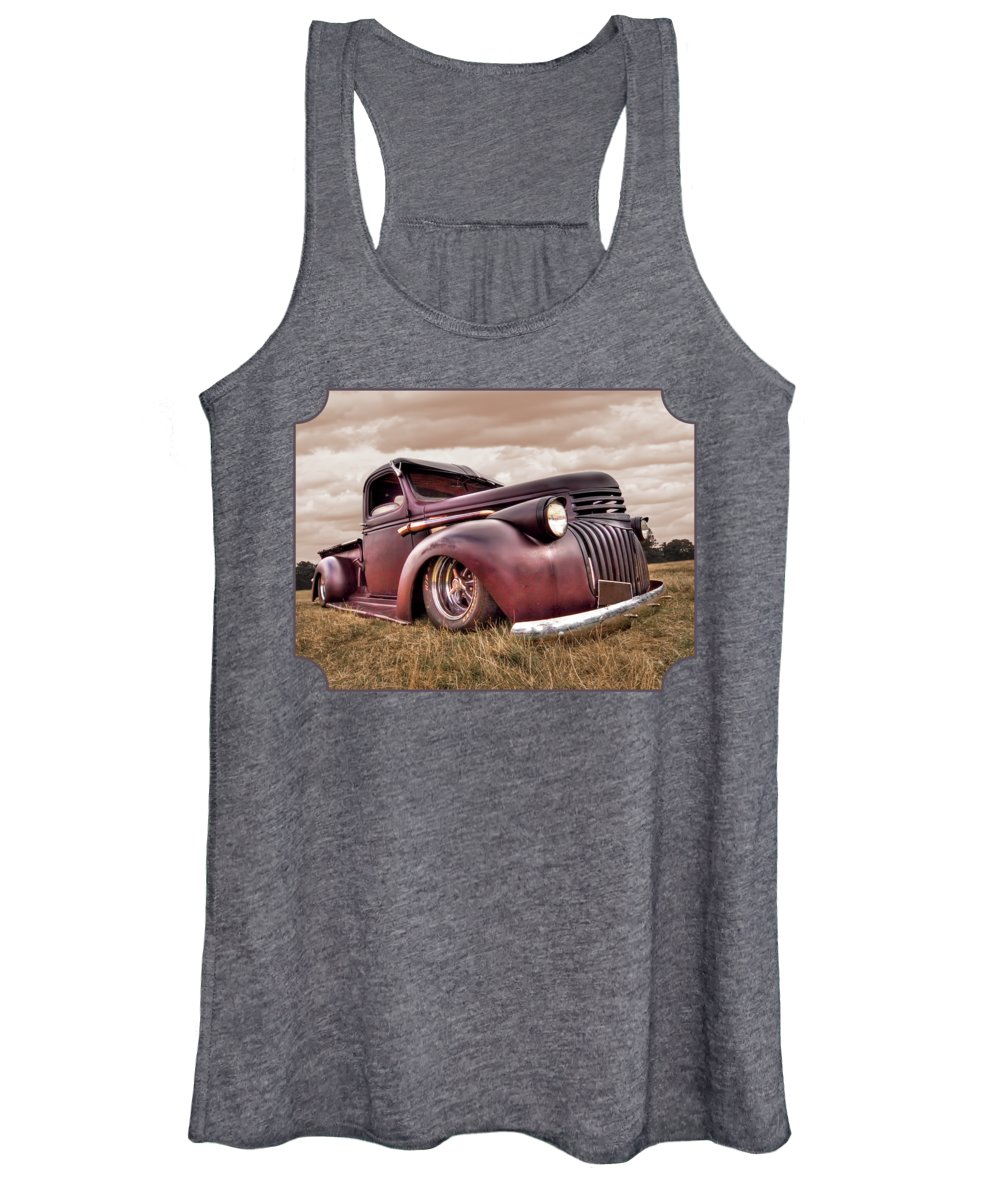 Chevrolet Truck Women's Tank Top featuring the photograph 1941 Rusty Chevrolet by Gill Billington