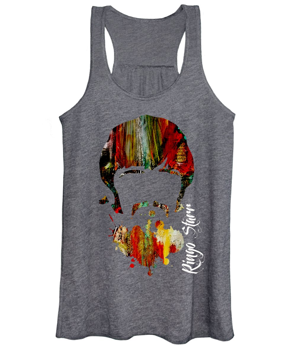 Ringo Starr Women's Tank Top featuring the mixed media Ringo Starr Collection by Marvin Blaine