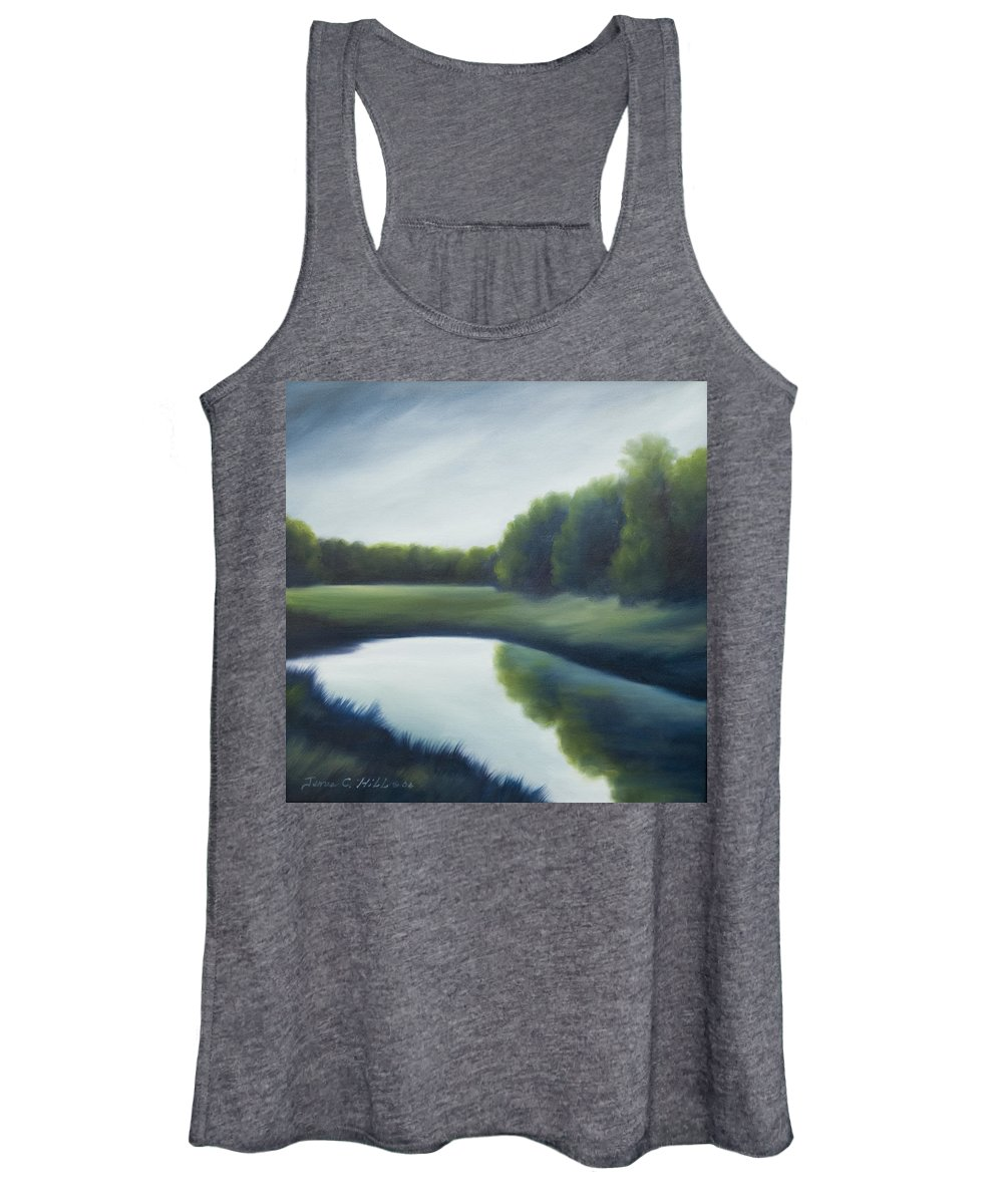 Clouds Women's Tank Top featuring the painting A Day In The Life 2 by James Christopher Hill