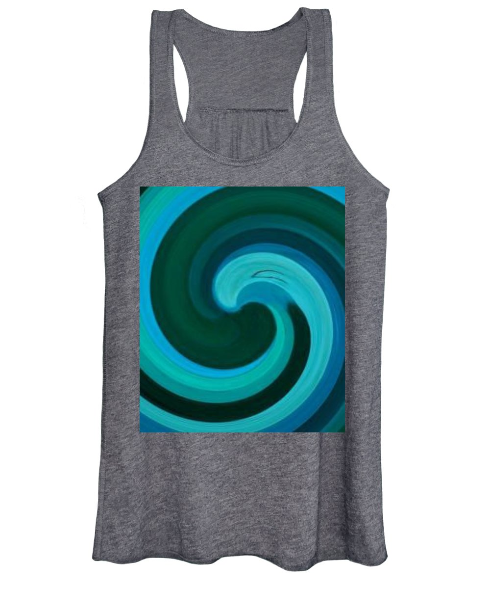 Continuious Women's Tank Top featuring the digital art A77 by Andrew Johnson
