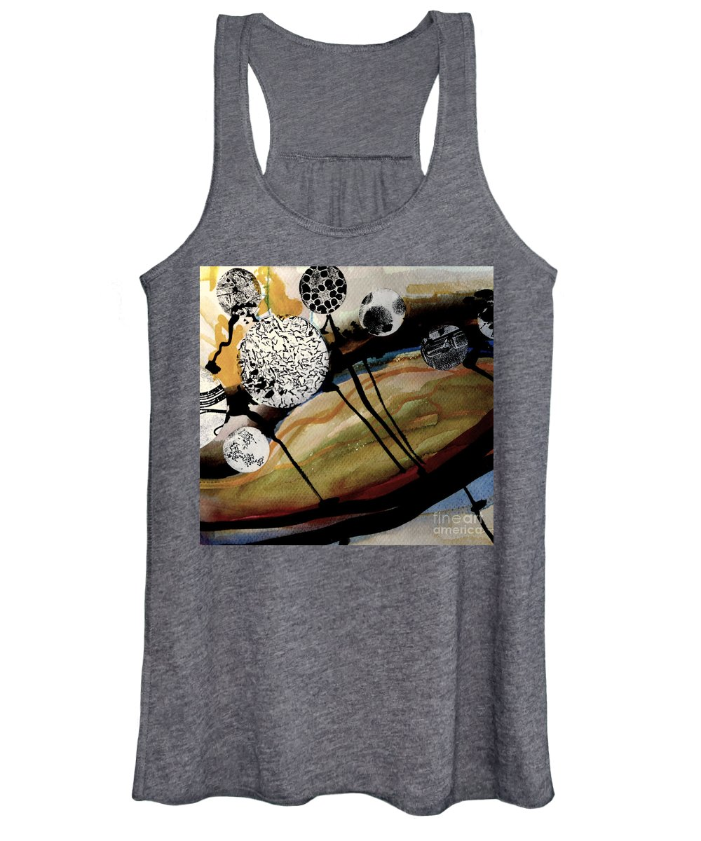 Katerina Stamatelos Women's Tank Top featuring the painting Abstract-23 by Katerina Stamatelos