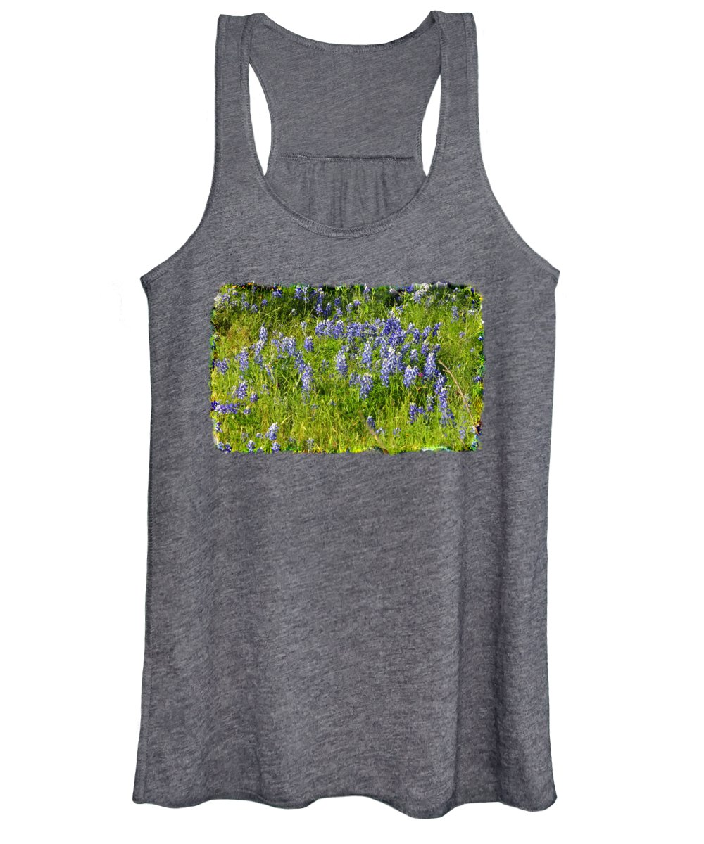 Nature Women's Tank Top featuring the photograph Abundance Of Blue Bonnets by Linda Phelps