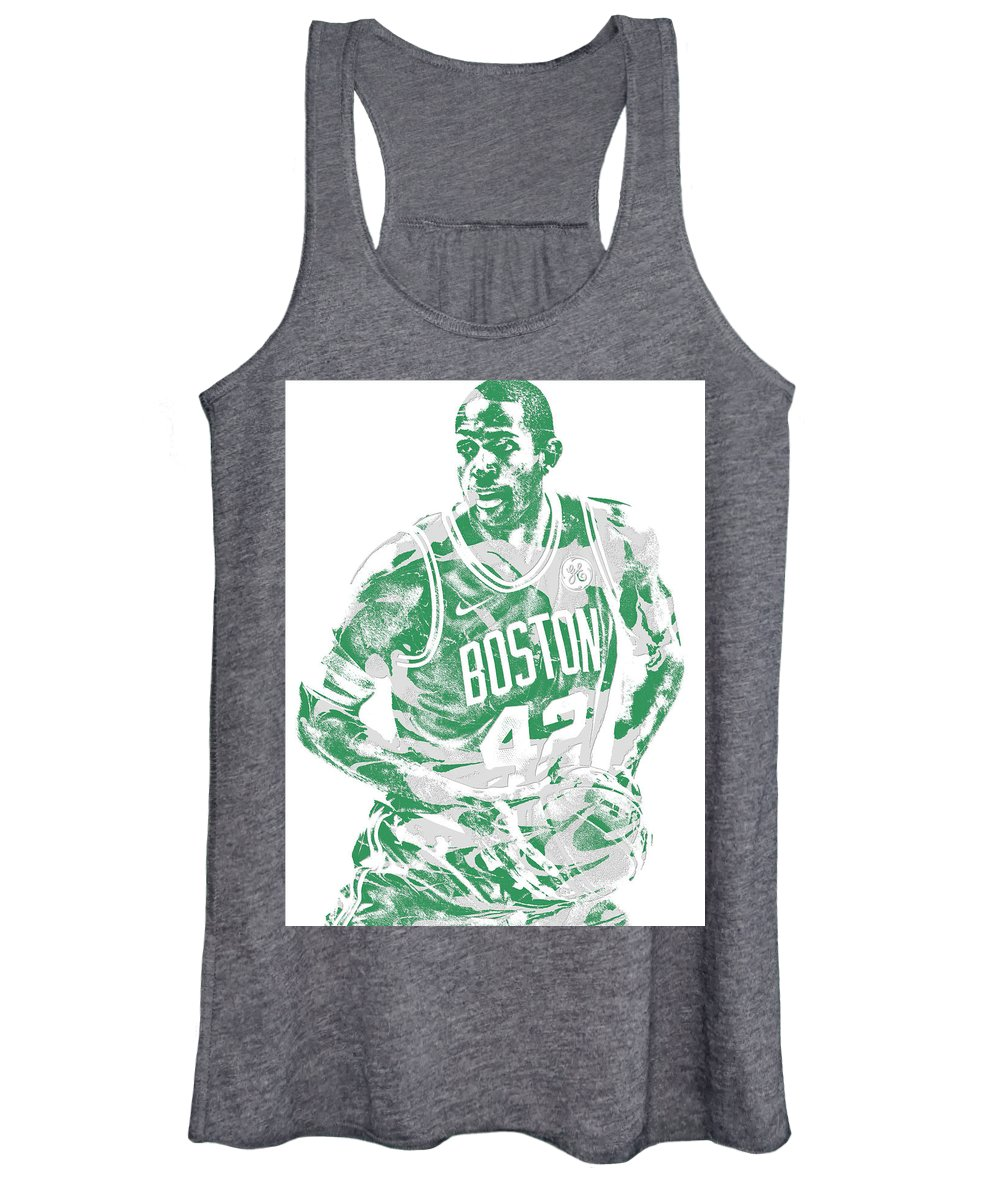 Al Horford Women's Tank Top featuring the mixed media Al Horford Boston Celtics Pixel Art 6 by Joe Hamilton
