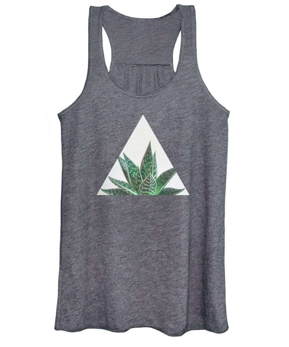 Succulent Women's Tank Top featuring the photograph Aloe Tiki by Cassia Beck