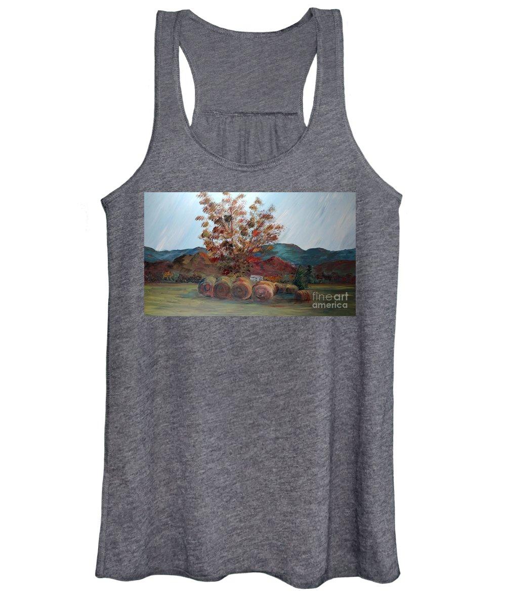 Autumn Women's Tank Top featuring the painting Arkansas Autumn by Nadine Rippelmeyer
