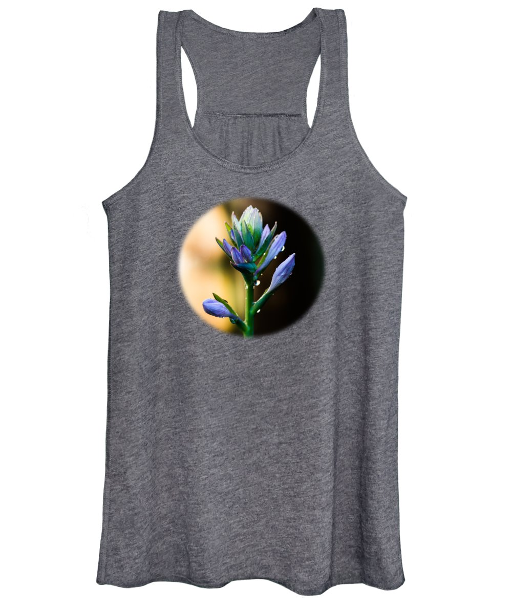 Hosta Women's Tank Top featuring the photograph Purple Blooms by Brian Manfra