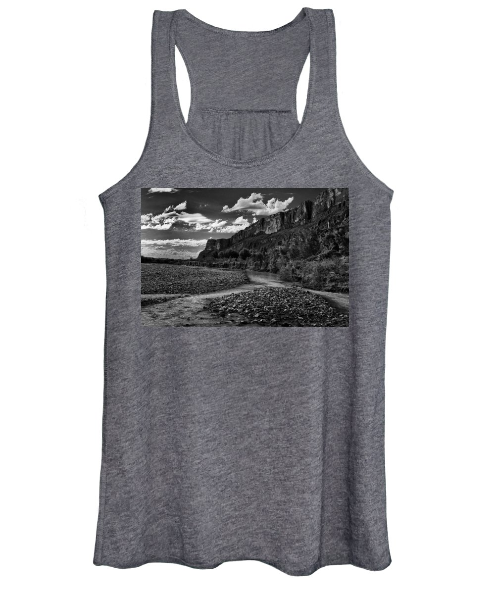Black And White Women's Tank Top featuring the photograph Big Bend National Park by Renee Cline