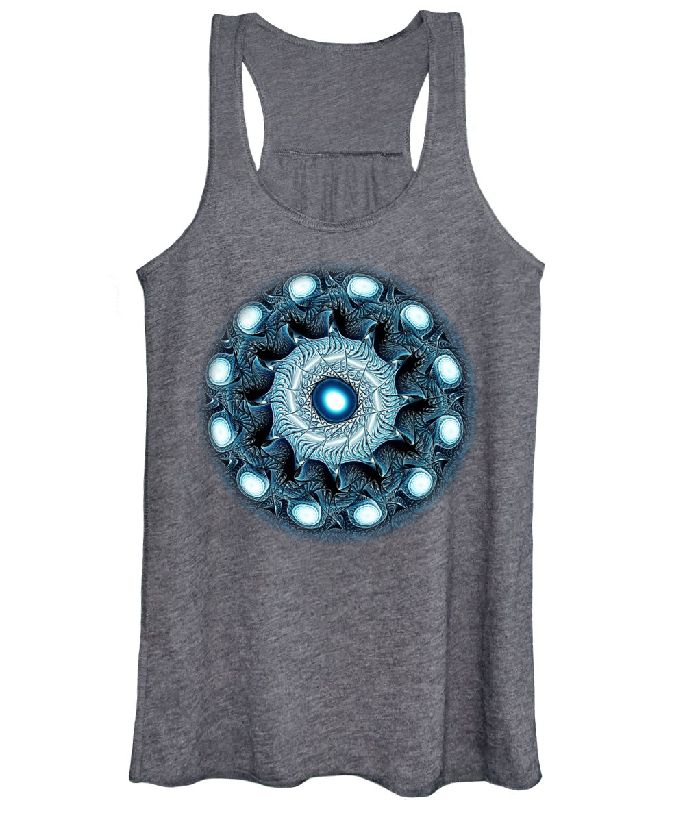 Malakhova Women's Tank Top featuring the digital art Blue Circle by Anastasiya Malakhova
