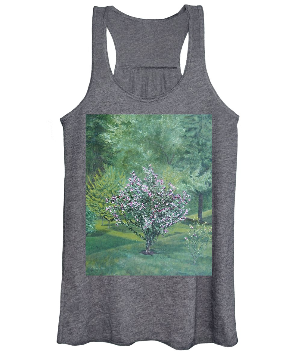 Blooming Women's Tank Top featuring the painting Charles Street by Leah Tomaino