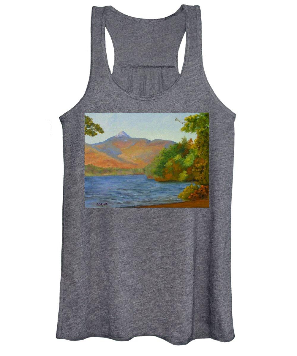 Mount Chocorua And Chocorua Lake Women's Tank Top featuring the painting Chocorua by Sharon E Allen