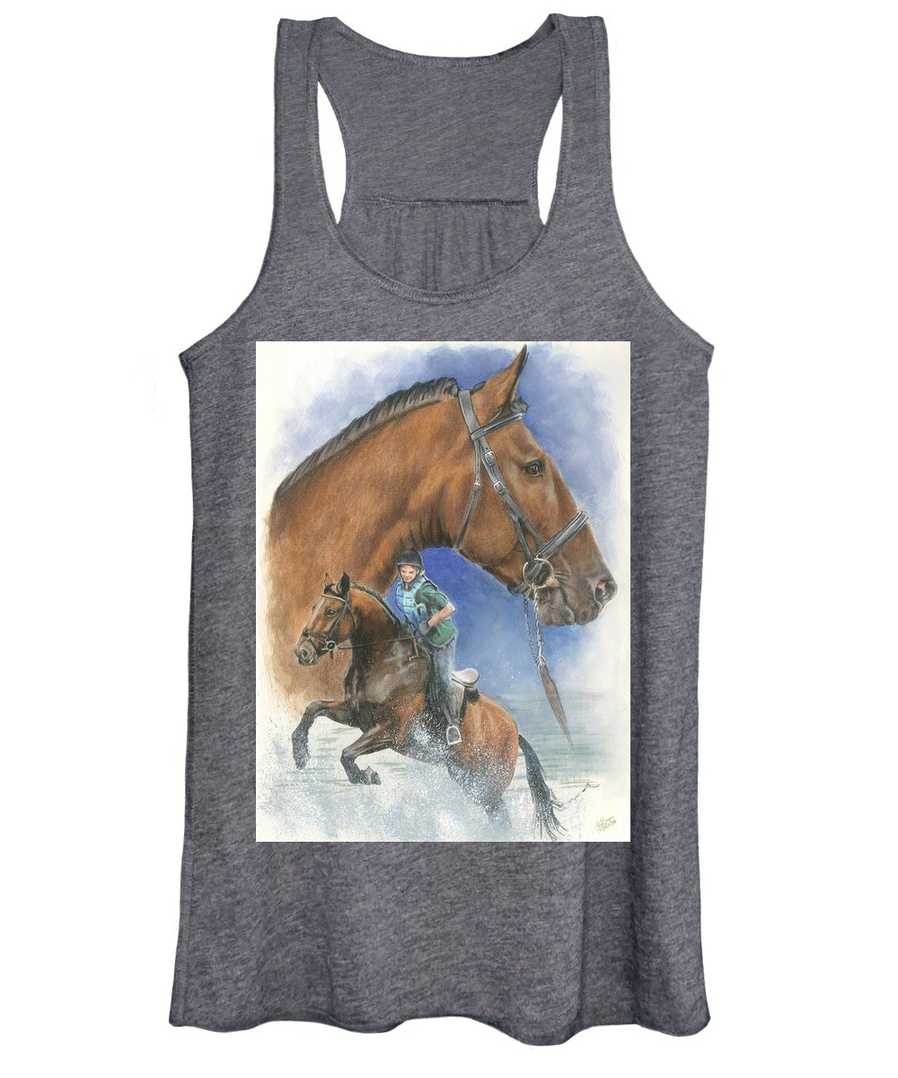 Hunter Jumper Women's Tank Top featuring the mixed media Cleveland Bay by Barbara Keith