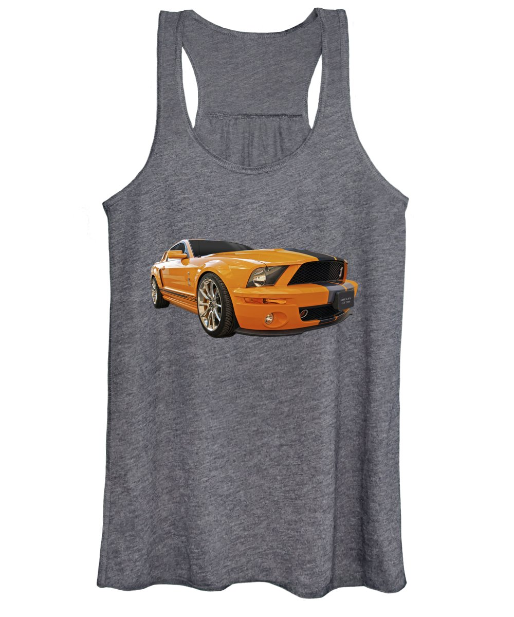 Shelby Mustang Women's Tank Top featuring the photograph Cobra Power - Shelby Gt500 Mustang by Gill Billington