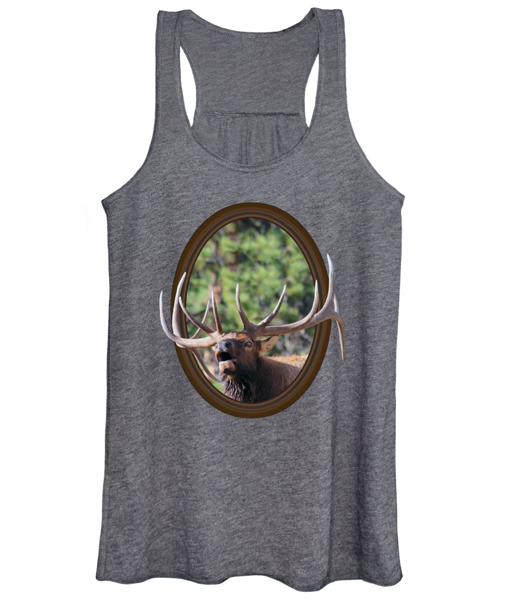 Bull Elk Women's Tank Top featuring the photograph Colorado Bull Elk by Shane Bechler