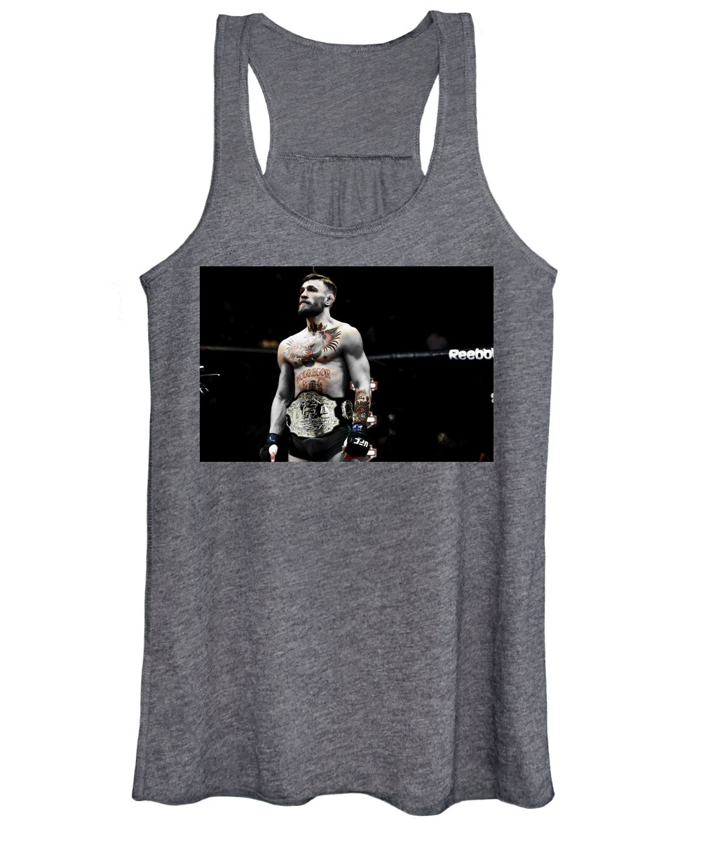 Conor Mcgregor Women's Tank Top featuring the mixed media Conor Mcgregor Standing Tall by Brian Reaves