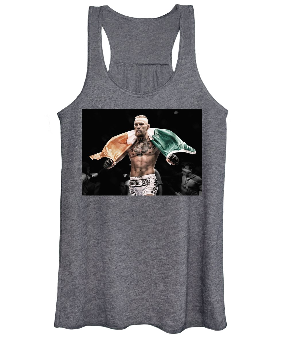 Conor Mcgregor Women's Tank Top featuring the mixed media Conor Mcgregor The Man by Brian Reaves
