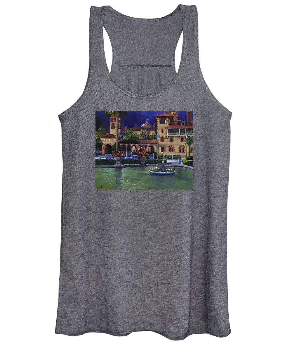 St. Augustine\'s Flagler College Campus Women's Tank Top featuring the painting Flagler College II by Christine Cousart