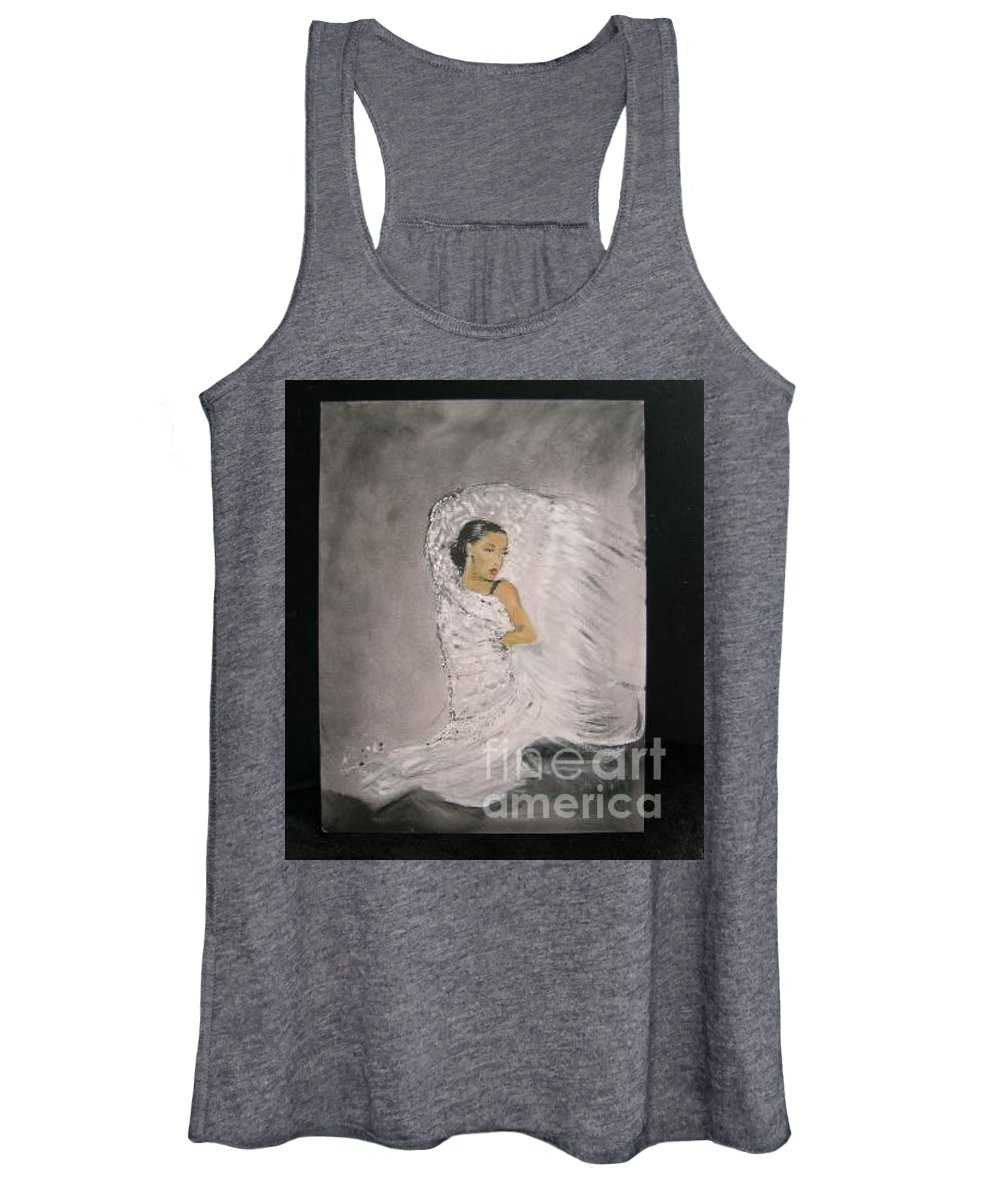 Spain Women's Tank Top featuring the painting Flamenco by Lizzy Forrester