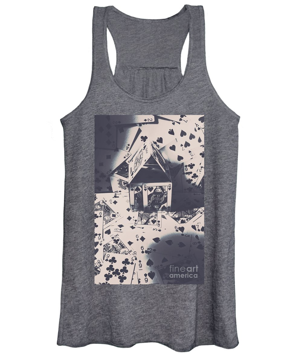 Cards Women's Tank Top featuring the photograph House Of Cards by Jorgo Photography - Wall Art Gallery