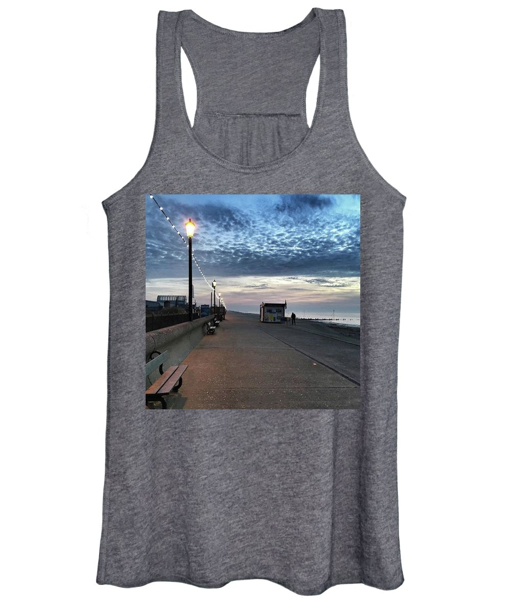 Beautiful Women's Tank Top featuring the photograph Hunstanton At 5pm Today  #sea #beach by John Edwards