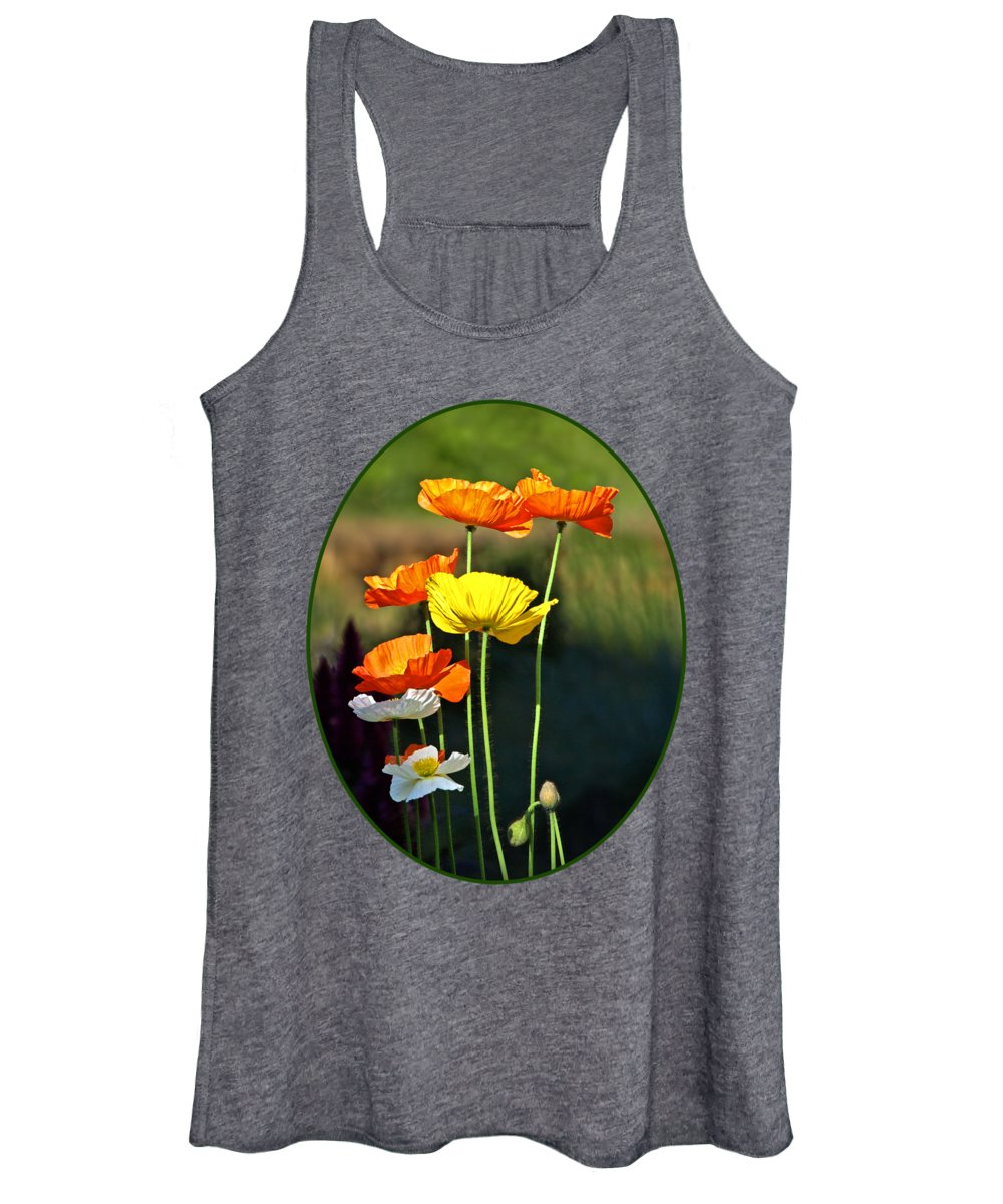 Poppies Women's Tank Top featuring the photograph Iceland Poppies In The Sun by Gill Billington