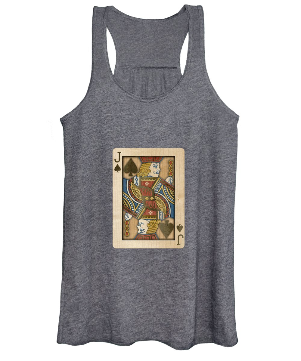 Boards Women's Tank Top featuring the photograph Jack Of Spades In Wood by YoPedro