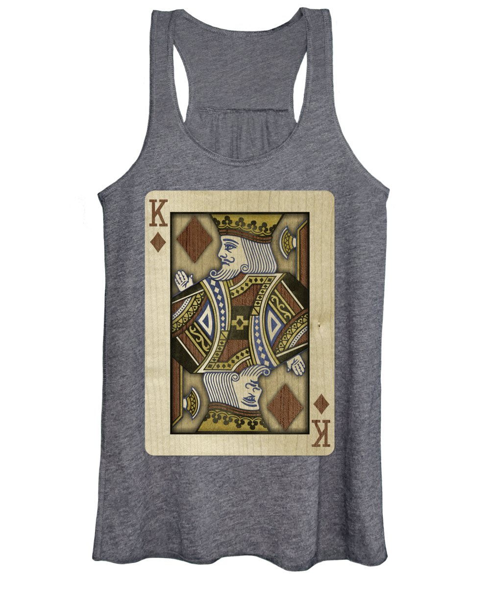 Boards Women's Tank Top featuring the photograph King Of Diamonds In Wood by YoPedro