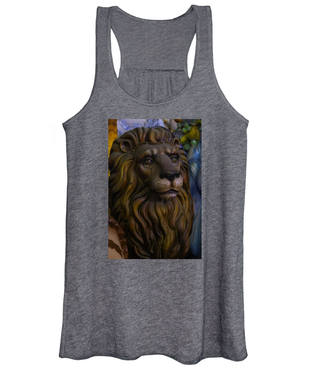 Mardi Gras Women's Tank Top featuring the photograph King Of The Beasts by Garry Gay