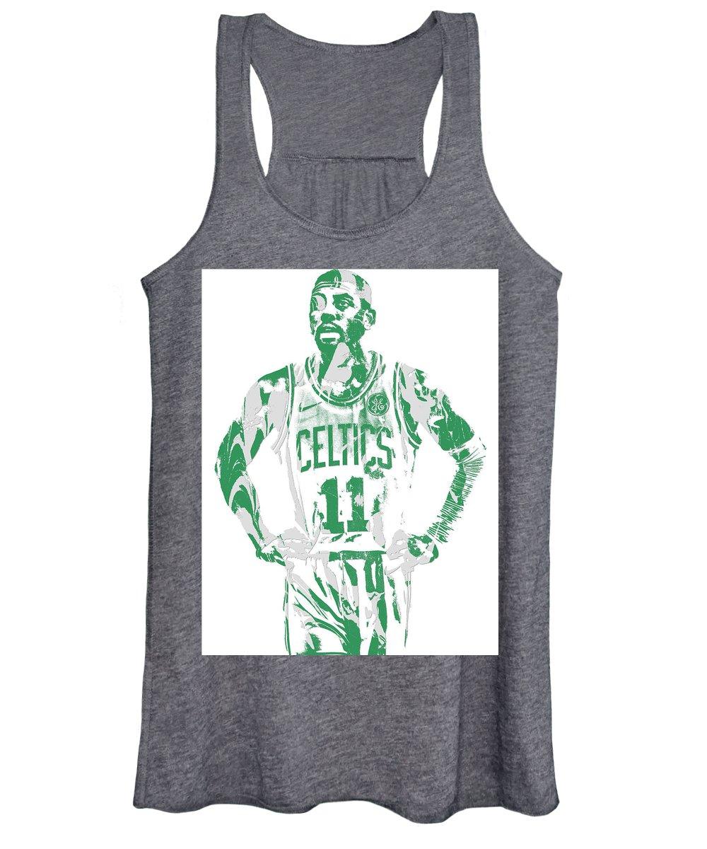 Kyrie Irving Women's Tank Top featuring the mixed media Kyrie Irving Boston Celtics Pixel Art 8 by Joe Hamilton
