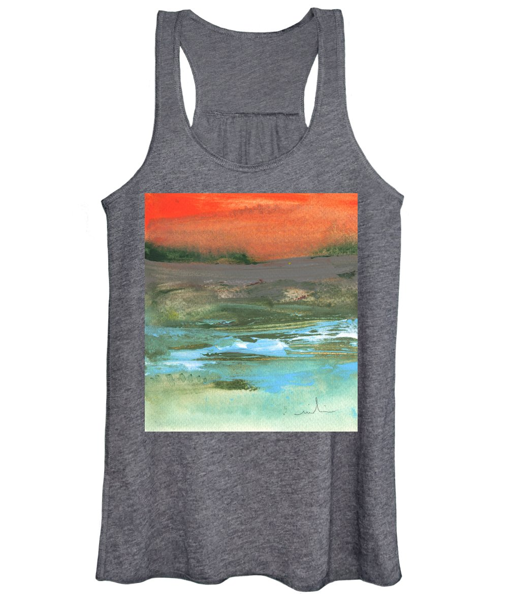 Watercolour Landscape Women's Tank Top featuring the painting Late Afternoon 22 by Miki De Goodaboom