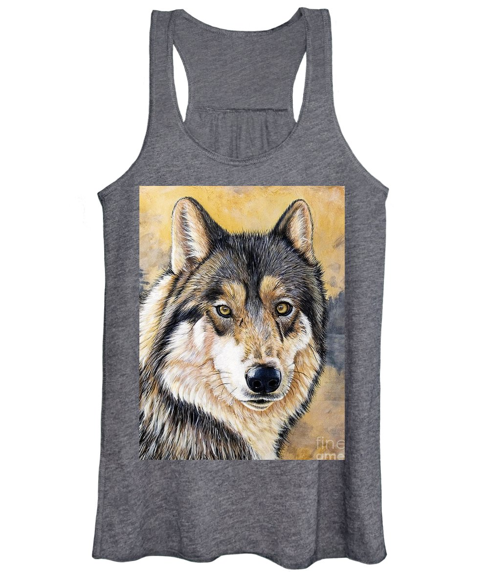 Acrylics Women's Tank Top featuring the painting Loki by Sandi Baker