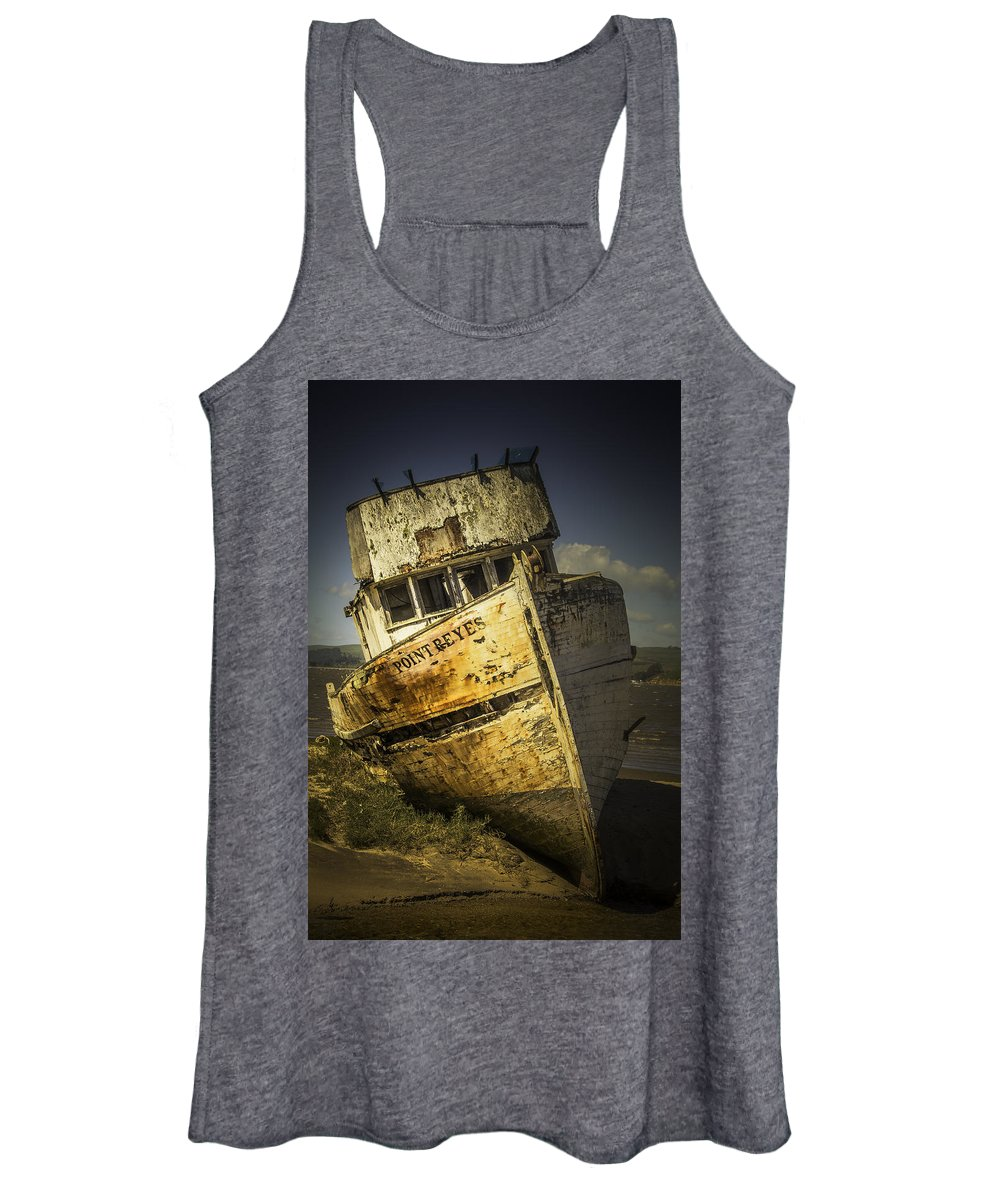 Fishing Women's Tank Top featuring the photograph Long Forgotten Boat by Garry Gay