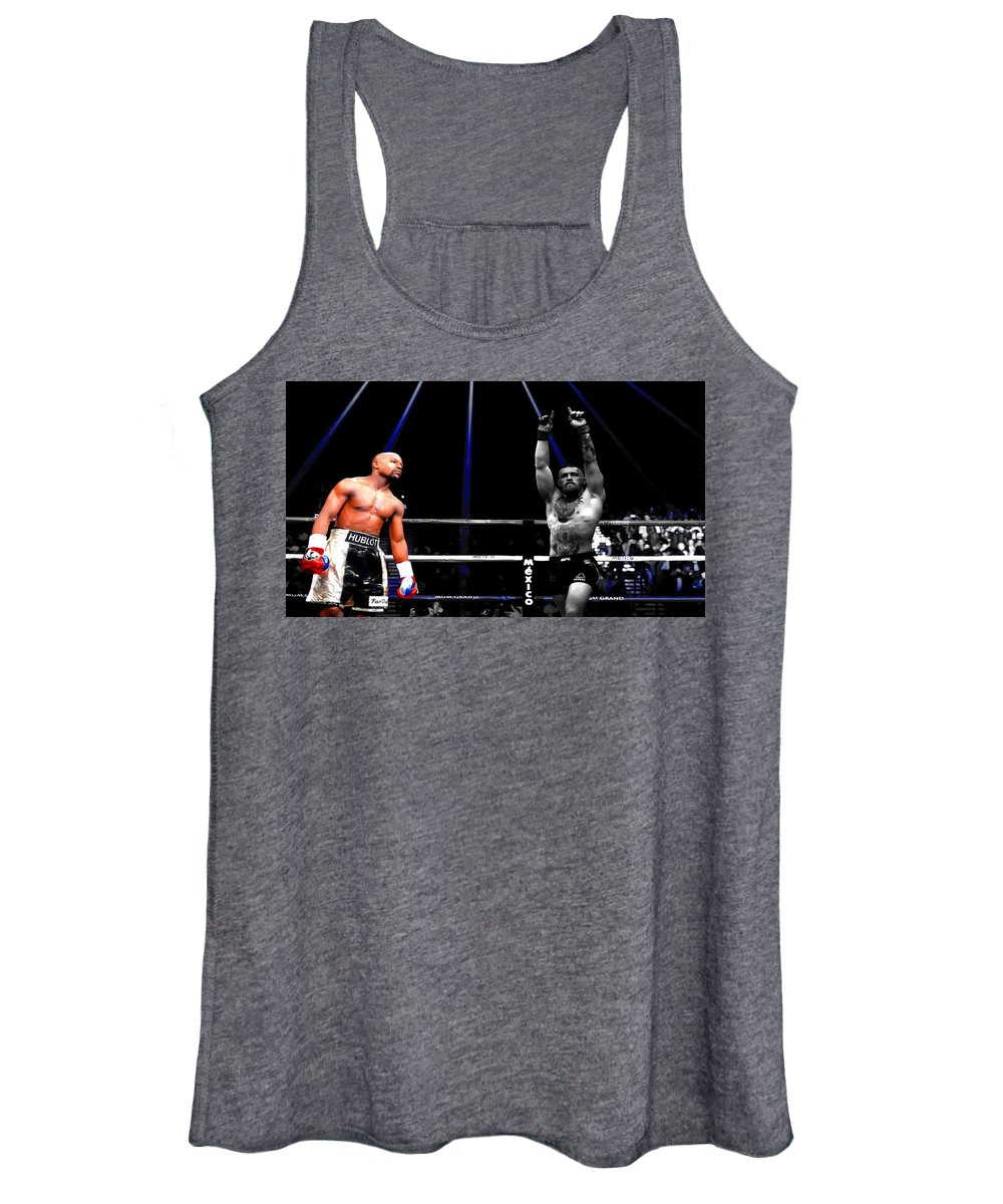 Conor Mcgregor Women's Tank Top featuring the mixed media Mayweather And Mcgregor 2a          by Brian Reaves
