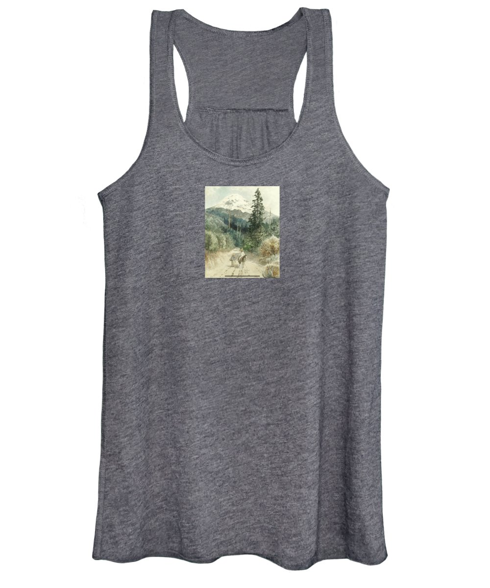 August LÖhr (german Women's Tank Top featuring the painting Mexico by MotionAge Designs