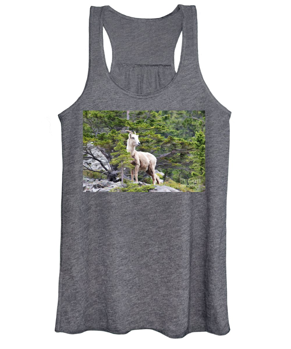 Animal Women's Tank Top featuring the photograph On The Lookout by Teresa Zieba