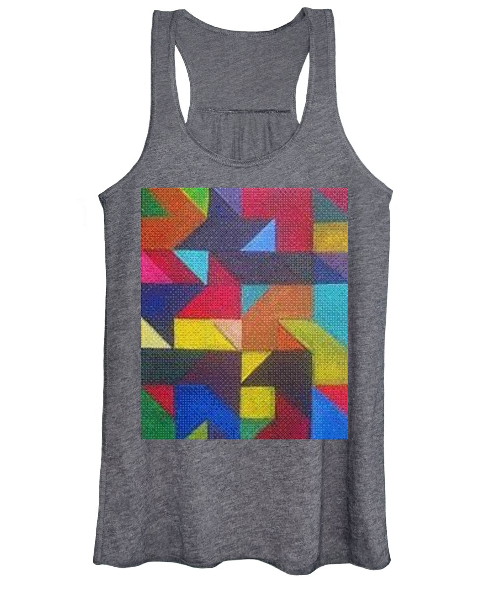 Digitalize Image Women's Tank Top featuring the digital art Real Sharp by Andrew Johnson