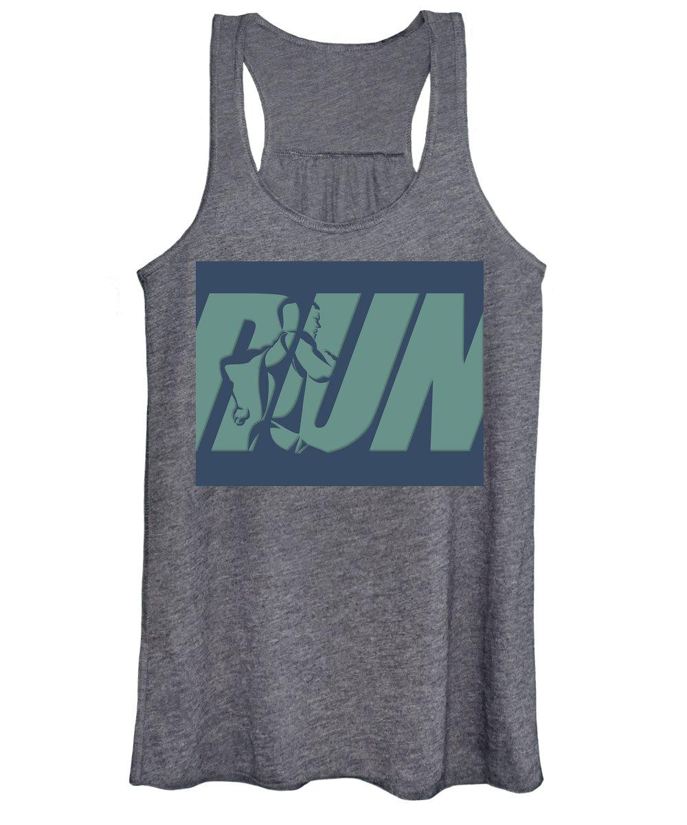Runner Women's Tank Top featuring the photograph Run 1 by Joe Hamilton