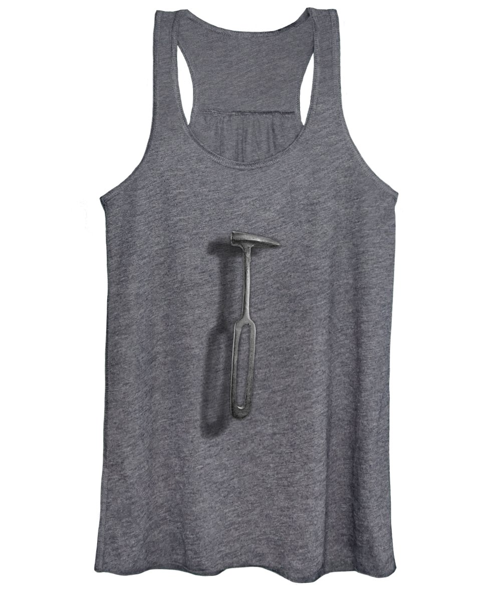 Antique Women's Tank Top featuring the photograph Rustic Hammer In Bw by YoPedro