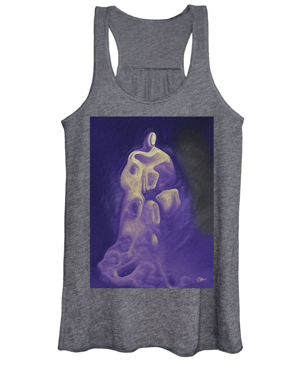 Abstract Women's Tank Top featuring the digital art Saint Unknown by Joaquin Abella