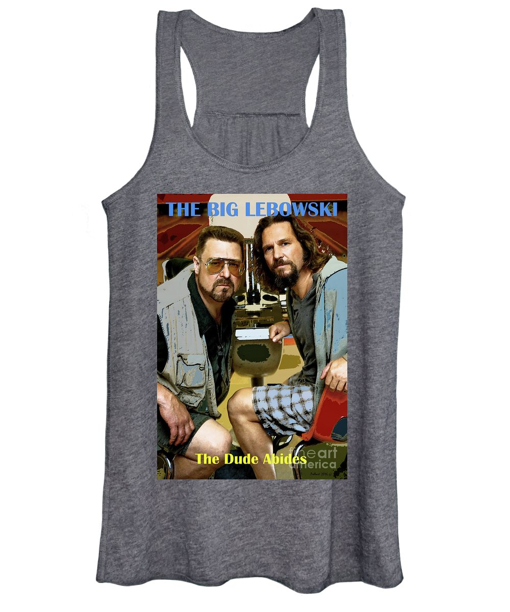 The Dude Abides Women's Tank Top featuring the mixed media The Dude Abides, The Big Lebowski by Thomas Pollart