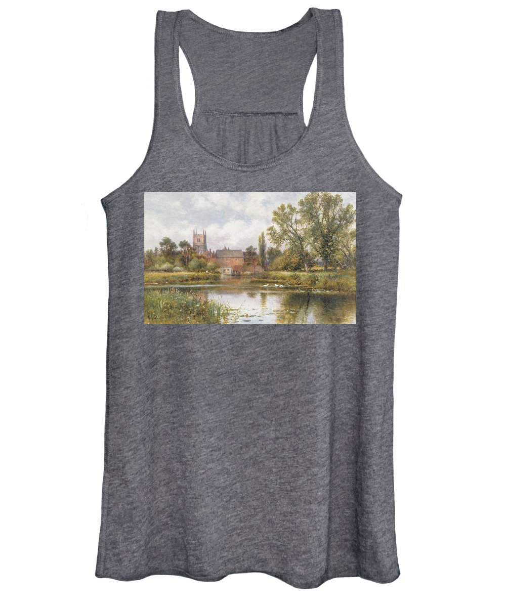 Mill Pond Paintings Women's Tank Tops