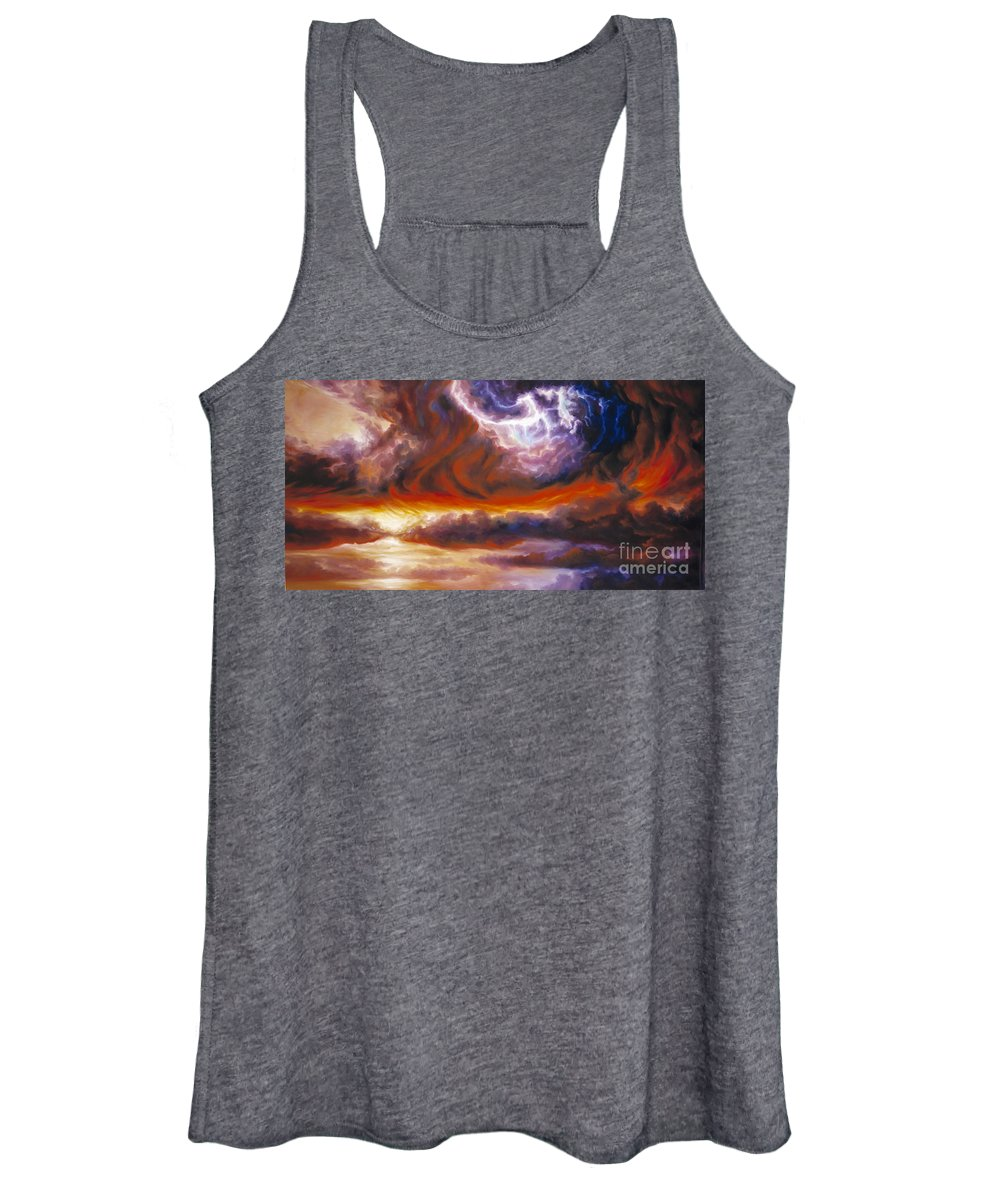 Tempest Women's Tank Top featuring the painting The Tempest by James Christopher Hill
