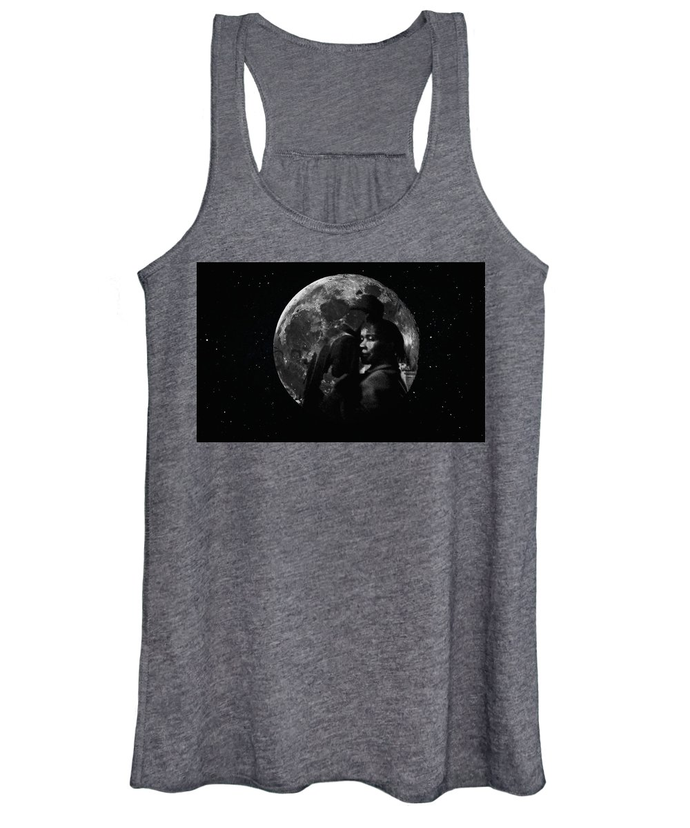Chicago Women's Tank Top featuring the digital art To The Moon And Back by Tiffaney Porter