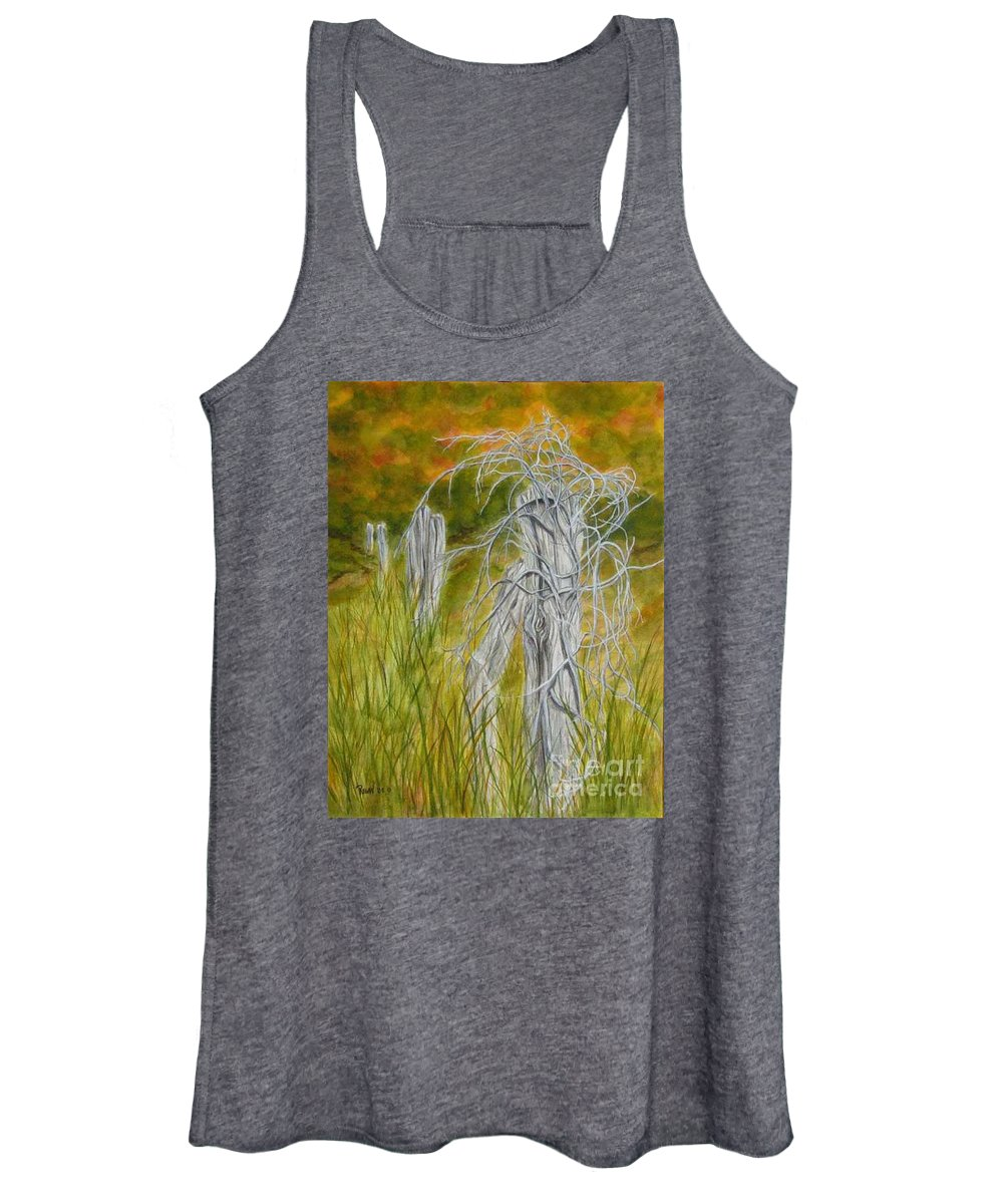 Landscape Women's Tank Top featuring the painting Twisted by Regan J Smith