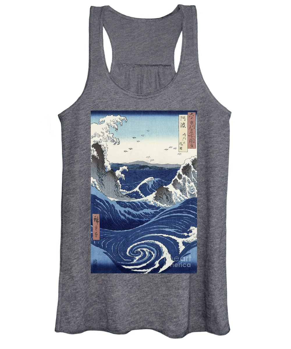 View Women's Tank Top featuring the painting View Of The Naruto Whirlpools At Awa by Hiroshige