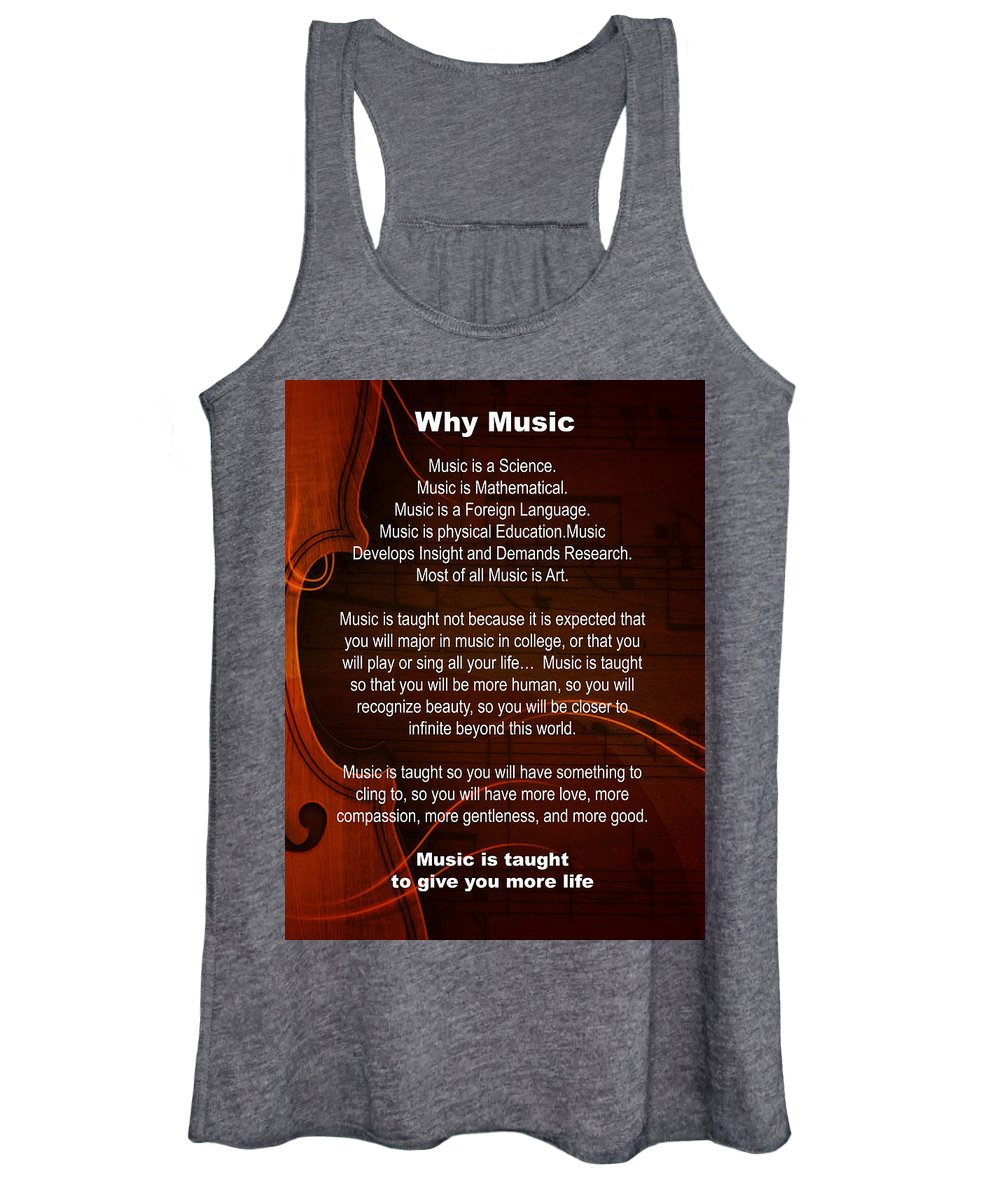 Violin Women's Tank Top featuring the photograph Violin Viola Why Music For T Shirts Or Posters 4831.02b by M K Miller