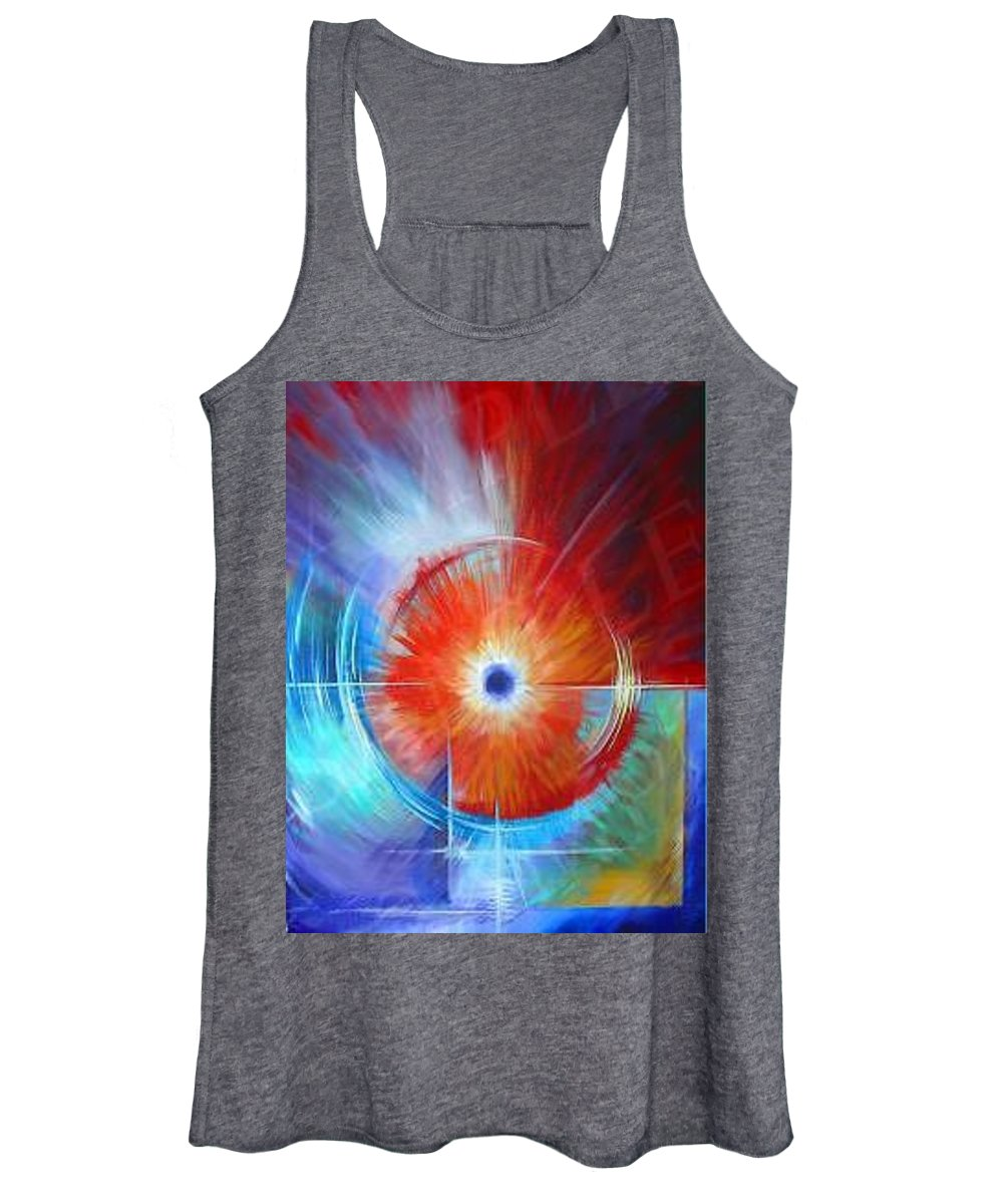 Clouds Women's Tank Top featuring the painting Vortex by James Christopher Hill